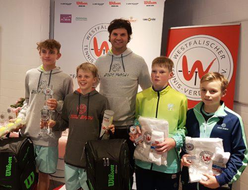 Louis Keiner vertritt den TC Rietberg bei den Westfälischen Jugendmeisterschaften 2017