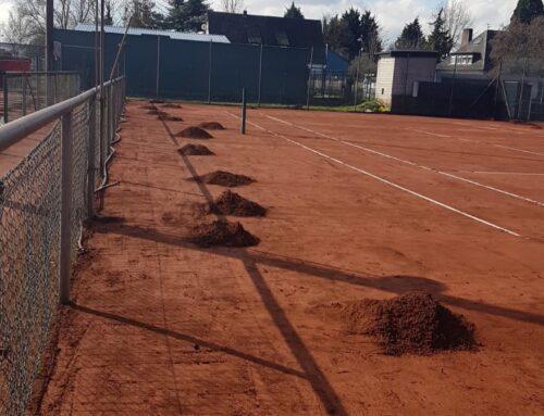 Wann darf man denn endlich bei uns auf der Anlage Tennis spielen?
